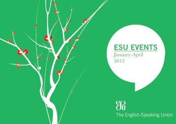 January - April Events Brochure - The English-Speaking Union