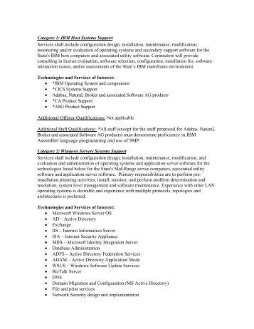 Technical Category descriptions in pdf format - Administration - State ...