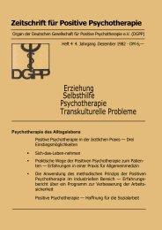 heft 4 komplett - Deutsche Gesellschaft für Positive und ...