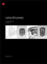 Their Soul and Secrets - Leica Camera AG