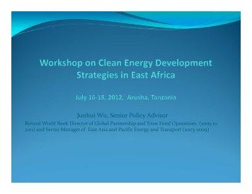 Junhui Wu, World Bank - United States Energy Association