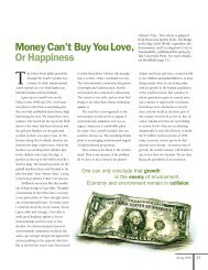 Money Can't Buy You Love, Or Happiness - Yale University
