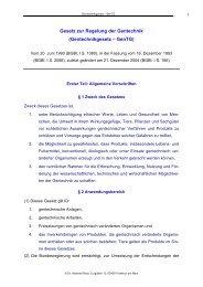 Die seit 4.2.2005 geltende Fassung des Gentechnikgesetzes finden ...