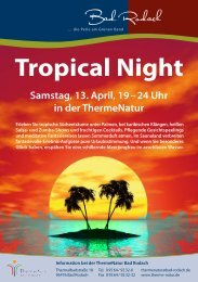 Programm Tropical Night - therme Natur Bad Rodach