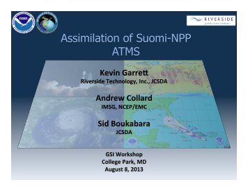 Assimilation of Suomi-NPP ATMS