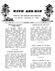 January - February 1990 - Marshfield Area Genealogy Group