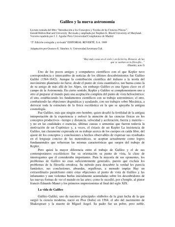 Galileo y la nueva astronomía - Historia y Filosofía de la Ciencia