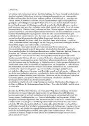 Konstantins 4. Rundbrief - Brass for Peace