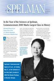 Spring/Summer 2000 (PDF) - Spelman College: Home