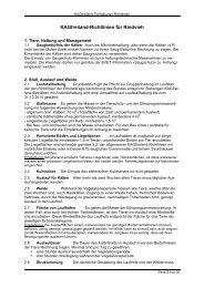 Kagfreiland-Richtlinien für Rindvieh