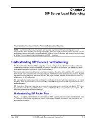 Chapter 2 sip server load balancing - Brocade