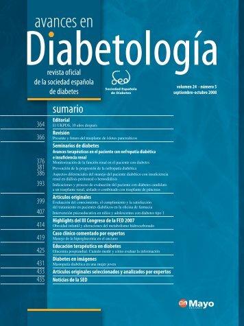 AVANCES 24(5).indb - Sociedad Española de Diabetes