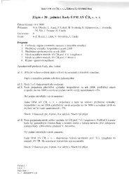 Zápis č.20 - 19.ledna 2009 - IPM