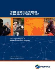 FROM COUNTING WOMEN TO MAKING WOMEN COUNT - Internews
