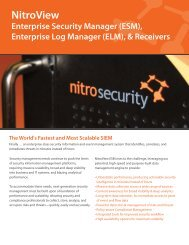 NitroView Enterprise Security Manager