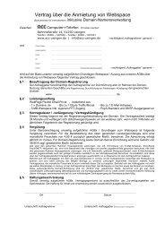 (PDF) Vertrag über die Anmietung von Webspace - ACC