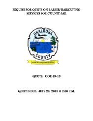 REQUEST FOR QUOTE ON BARBER ... - Okaloosa County