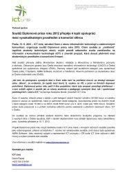 Tisková zpráva - Diplomová práce roku