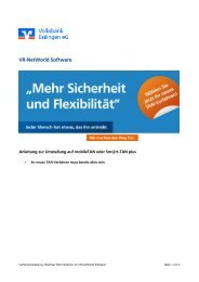 VR-NetWorld Software - Volksbank Esslingen eG
