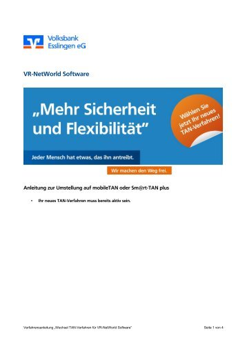 VR-NetWorld Software - Volksbank Esslingen eG
