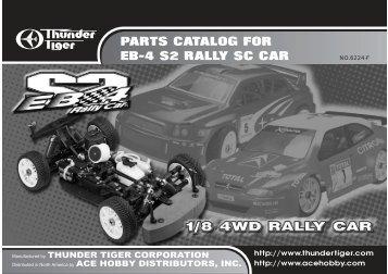 PARTS CATALOG FOR EB-4 S2 RALLY SC CAR - Powertoys