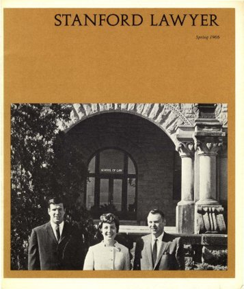 Spring 1966 – Issue 1 - Stanford Lawyer - Stanford University