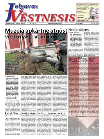 2009. gada 20.augusts. Nr.32(116) - Jelgavas Vēstnesis