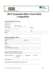 2013 Tasmanian Dairy Farm Safety Competition - DairyTas