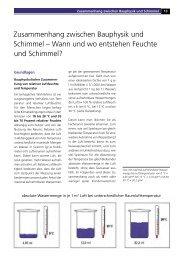 Zusammenhang zwischen Bauphysik und Schimmel – Wann und ...