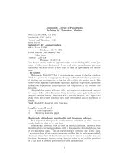 Community College of Philadelphia Syllabus for Elementary Algebra ...
