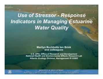 Response Indicators in Managing Estuarine Water Quality - rargom