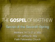 Matthew 14:13-21 - Faith Fellowship Church