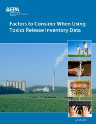 Factors to Consider When Using TRI Data - US Environmental ...