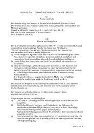 Satzung des 1. Fußballclub Sulzbach (Taunus ... - 1. FC Sulzbach