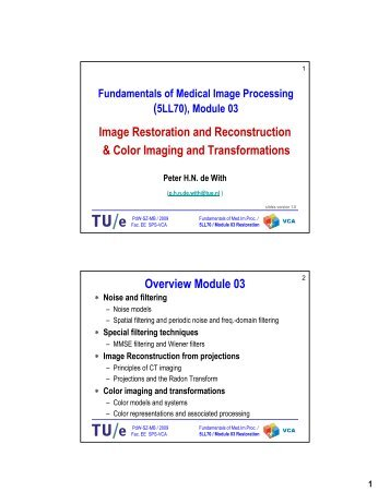 Image Restoration and Reconstruction & Color Imaging and ...