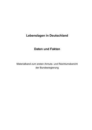 Lebenslagen in Deutschland Daten und Fakten