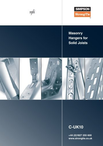Masonry Hangers for Solid Joists - Simpson Strong-Tie