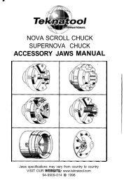 ACCESSORY JAWS MANUAL - Teknatool