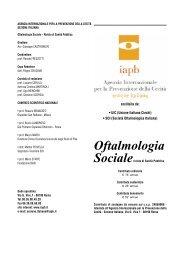 Oftalmologia Socialerivista di Sanità Pubblica - Agenzia ...
