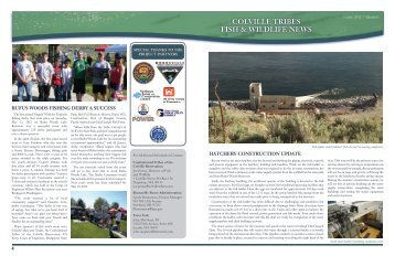 Colville TRiBeS fiSh & wildlife newS - The Confederated Tribes Of ...