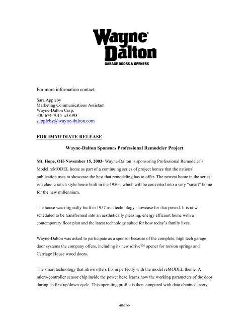 professional remodeler pdf - Wayne-Dalton Partner Connect