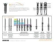 Drill Sequence Chart - BioHorizons
