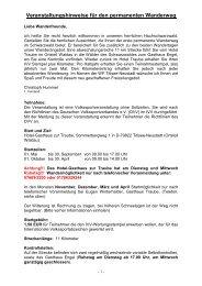 Veranstaltungshinweise - Gerhard und Martina Haase
