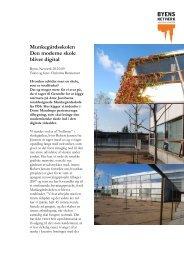 Munkegårdsskolen Den moderne skole bliver digital - Byens Netværk