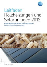 Leitfaden Holzheizungen und Solaranlagen 2012 - Kommunalkredit ...