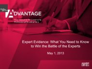 Expert Evidence: What You Need to Know to Win the ... - Hicks Morley