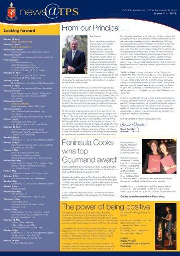 Issue 2 April 2012 - The Peninsula School
