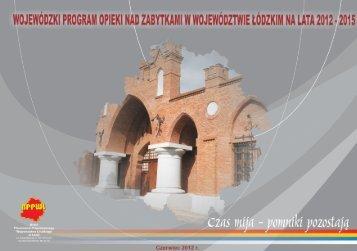 Wojewódzki Program Opieki nad Zabytkami w Województwie ...