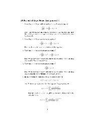 Di erential Equations Assignment 5