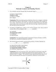 Chapter 9 Molecular Geometry and Bonding Theories - eDocs
